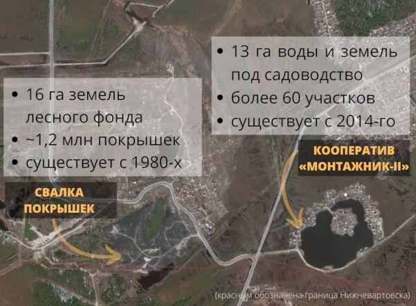 Так бывшие владения «Березки» выглядят соспутника. Размер сопоставим ссадовым кооперативом неподалеку / Изображение: NEFT